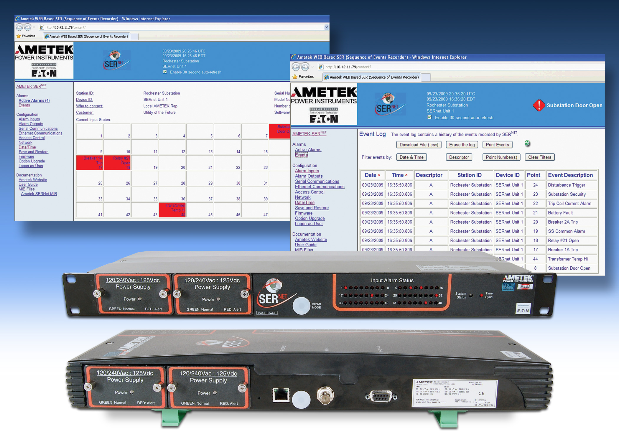 AMETEK INTRODUCES IEC61850 PROTOCOL ON SERNET ALARM
